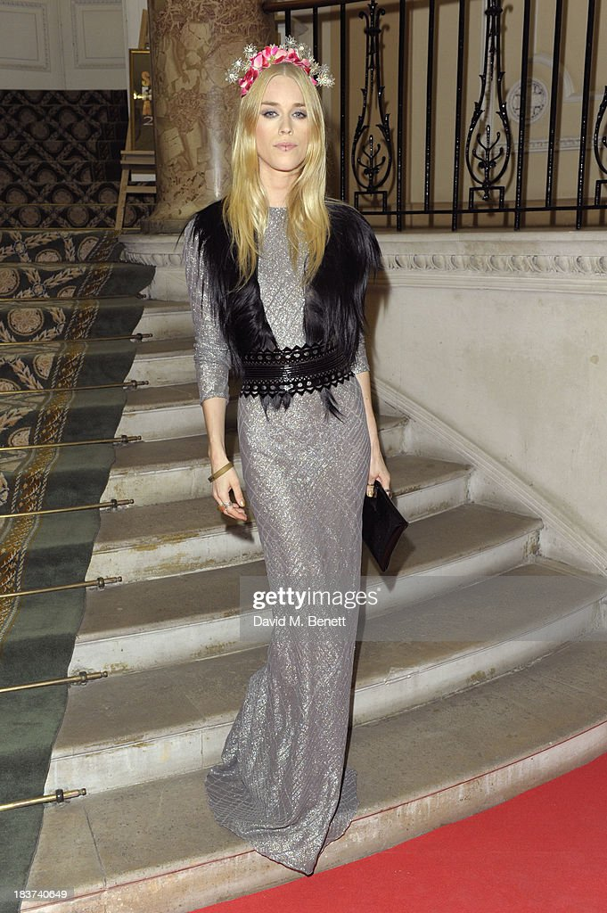 <a gi-track='captionPersonalityLinkClicked' href=/galleries/search?phrase=Mary+Charteris&family=editorial&specificpeople=4361110 ng-click='$event.stopPropagation()'>Mary Charteris</a> arrives at the Scottish Fashion Invasion of London at the 8th Annual Scottish Fashion Awards 2013 at Dover House on October 9, 2013 in London, England.