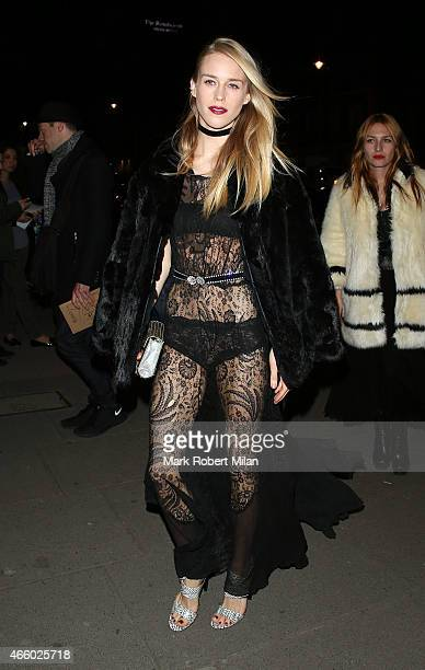 Mary Charteris attending the Alexander McQueen Savage Beauty Fashion Gala at the VA on March 12 2015 in London England