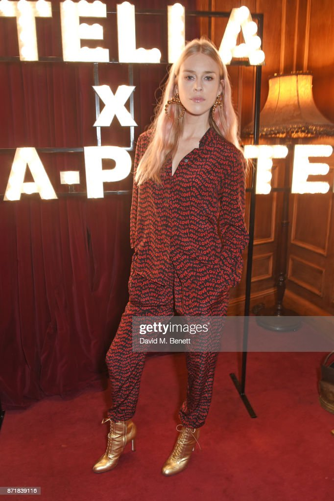 Mary Charteris attends a private dinner hosted by NET-A-PORTER and Stella McCartney to celebrate the launch of the Stella McCartney x NET-A-PORTER party capsule collection on November 8, 2017 in London, England.