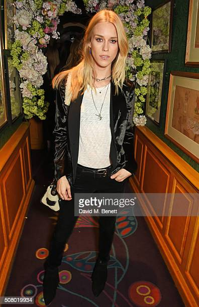 Mary Charteris attends a VIP dinner celebrating the launch of Mrs Alice for French Sole at Annabel's on February 2 2016 in London England