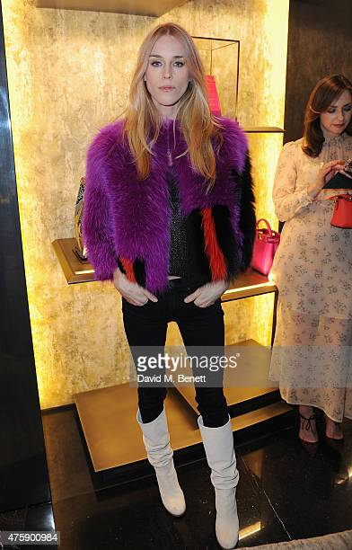 Mary Charteris attends as FENDI New Bond Street celebrates their 1st anniversary on June 4 2015 in London England