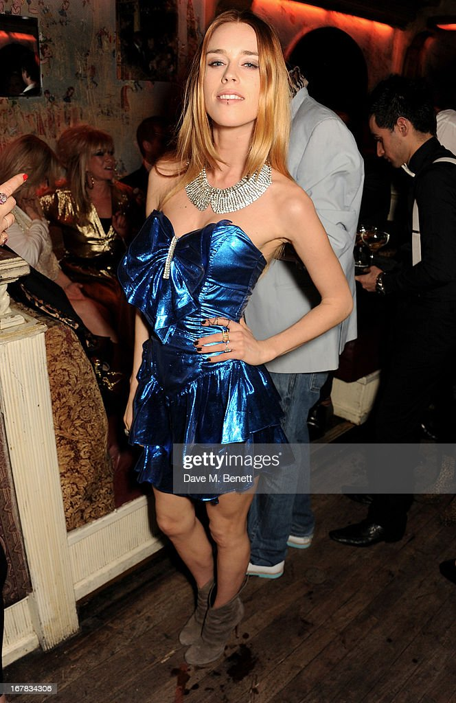 Mary Charteris attends Fran Cutler's surprise birthday party supported by ABSOLUT Elyx at The Box Soho on April 30, 2013 in London, England.