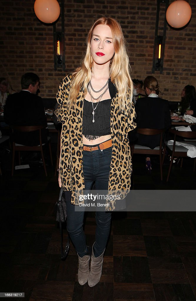 Mary Charteris attends the BLK DNM Dinner with Johan Lindeberg and Kim Sion at Beagle Restaurant on May 8, 2013 in London, England.
