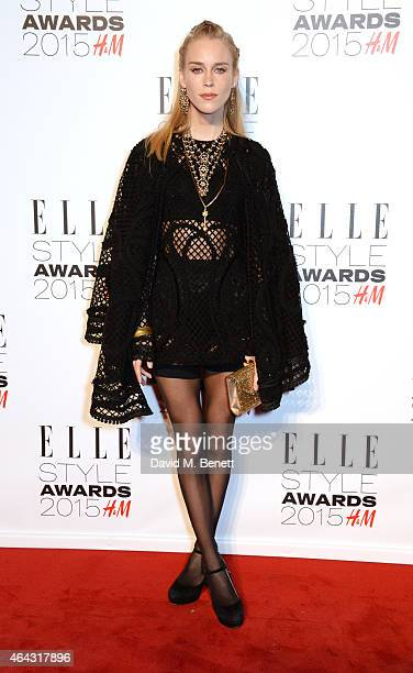 Mary Charteris attends the Elle Style Awards 2015 at Sky Garden @ The Walkie Talkie Tower on February 24 2015 in London England