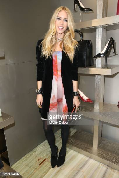 Mary Charteris attends the Giorgio Armani Paris Avenue Montaigne Shop Grand Opening on January 22 2013 in Paris France