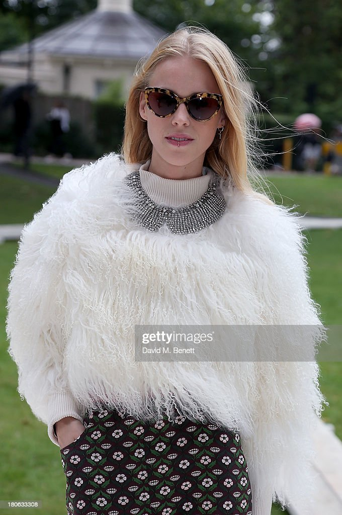 <a gi-track='captionPersonalityLinkClicked' href=/galleries/search?phrase=Mary+Charteris&family=editorial&specificpeople=4361110 ng-click='$event.stopPropagation()'>Mary Charteris</a> attends the Unique SS14 runway show during London Fashion Week on September 15, 2013 in London, England.