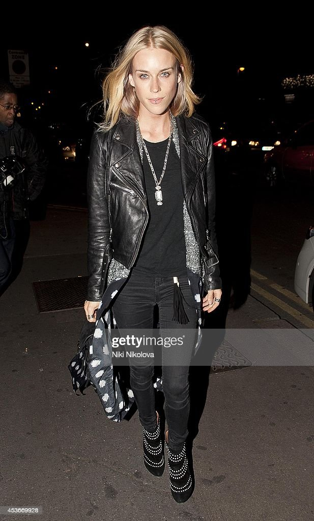 <a gi-track='captionPersonalityLinkClicked' href=/galleries/search?phrase=Mary+Charteris&family=editorial&specificpeople=4361110 ng-click='$event.stopPropagation()'>Mary Charteris</a> is seen arriving at Shorditch House on August 15, 2014 in London, England.