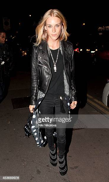 Mary Charteris is seen arriving at Shorditch House on August 15 2014 in London England