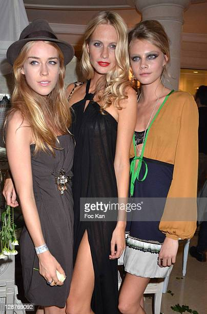 Mary Charteris Poppy Delevingne and Cara Delevingne attend the DSquared2 Exclusive Party Paris Fashion Week Spring / Summer 2012 at At Hotel Ritz on...
