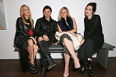 Mary Charteris Robbie Furze Amber Atherton and Lou Stoppard attend a dinner to celebrate SelfPortrait Studio's 1st Anniversary with Han Chong at...