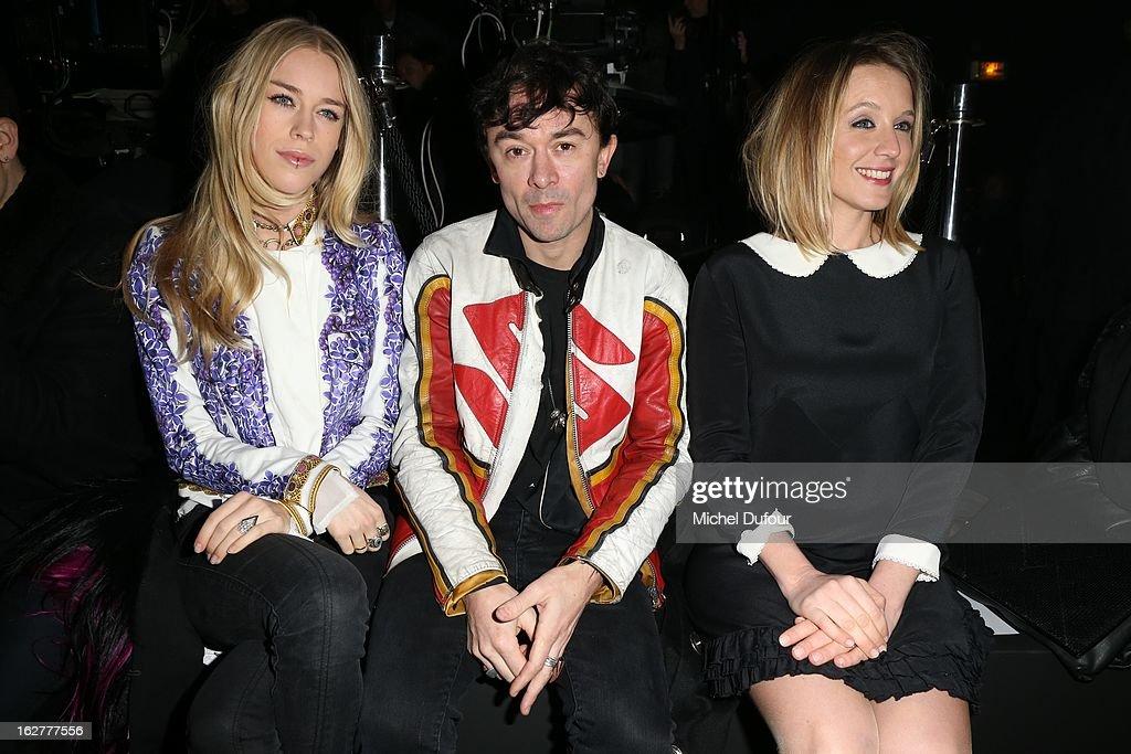 Mary Chateris, Robertson Furze and Ludivine Sagnier attend the Etam Live Show Lingerie at Bourse du Commerce on February 26, 2013 in Paris, France.