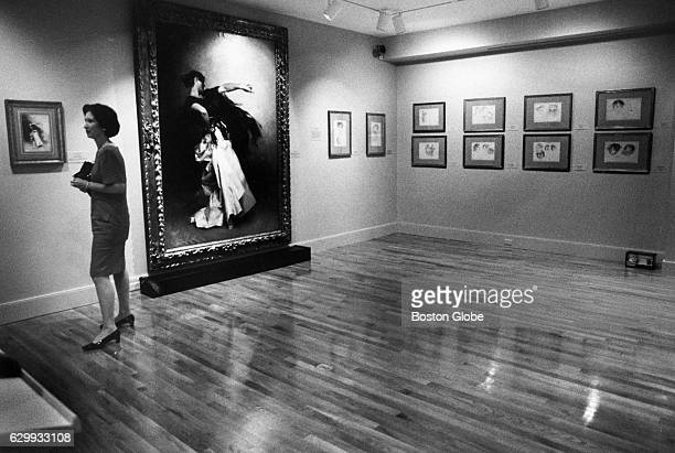 Mary Crawford Volk who wrote the book John Singer Sargent's El Jaleo which accompanies the exhibit tours the exhibit room at the Isabella Stewart...