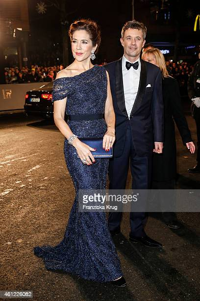 Mary Crown Princess of Denmark and Frederik Crown Prince of Denmark arrive at the Bambi Awards 2014 on November 13 2014 in Berlin Germany