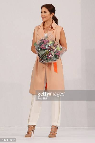 Mary Crown Princess of Denmark apperas at the Designers Nest during the third day of Copenhagen Fashion Week Spring/Summer 2016 on August 7 2015 in...