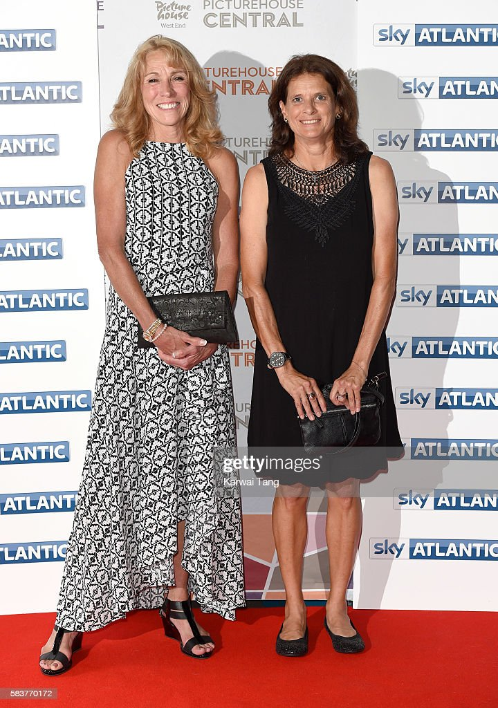 Mary Decker and Zola Budd arrive for the premiere of Sky Atlantic's original documentary feature 'The Fall' at Picturehouse Central on July 27, 2016 in London, England.