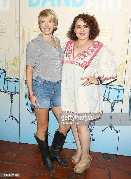 Mary Elizabeth Ellis and guest attend the Los Angeles premiere of IFC Films' 'Band Aid' held at The Theatre at Ace Hotel on May 30 2017 in Los...
