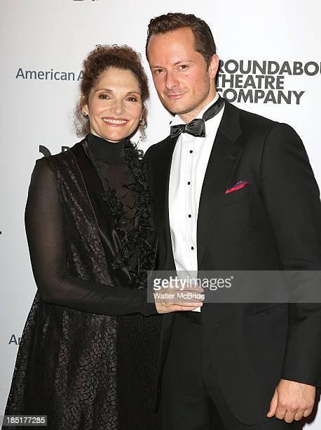 Mary Elizabeth Mastrantonio and Chandler Williams attend the Opening Night After Party for 'The Winslow Boy' at American Airlines Theatre on October...