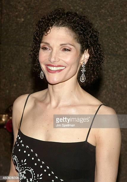 Mary Elizabeth Mastrantonio during 2003 Tony Awards at Radio City Music Hall in New York City New York United States