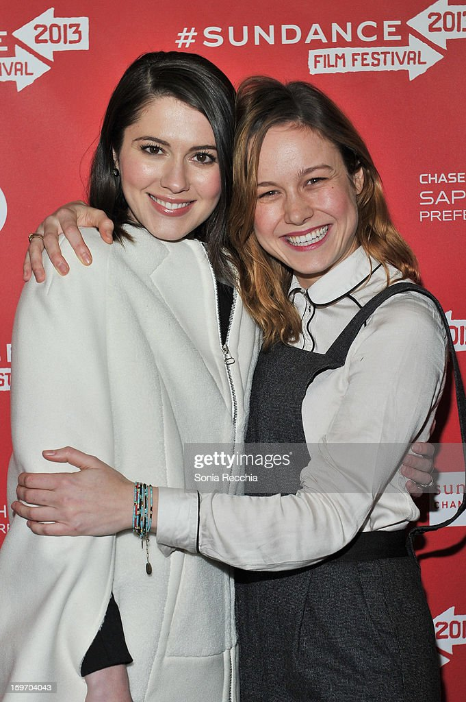 Mary Elizabeth Winstead and Brie Larson attend 'The Spectacular Now' premiere at Library Center Theater during the 2013 Sundance Film Festival on January 18, 2013 in Park City, Utah.