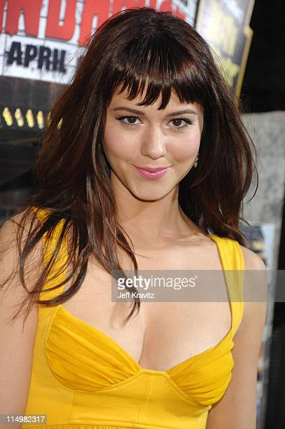 Mary Elizabeth Winstead during 'Grindhouse' Los Angeles Premiere Red Carpet at Orpheum Theatre in Los Angeles California United States