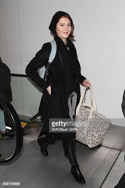 Mary Elizabeth Winstead is seen at LAX on January 21 2016 in Los Angeles California