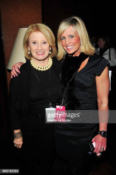 Mary Ellis Harwood and Natalie Bushaw attend DELTA SKY Magazine launch party at Whiskey Park on February 23 2009 in New York City