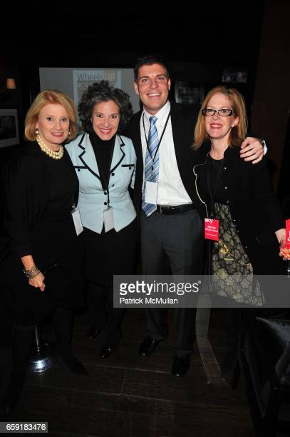 Mary Ellis Harwood Gail Grimmett Judd Hooks and Jayne Olson attend DELTA SKY Magazine launch party at Whiskey Park on February 23 2009 in New York...