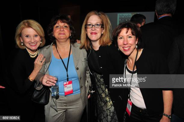 Mary Ellis Harwood Rifka guest Jayne Olson and Ronni Ross attend DELTA SKY Magazine launch party at Whiskey Park on February 23 2009 in New York City