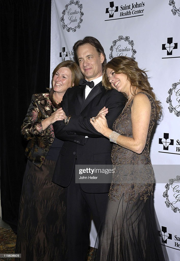 Mary Flaherty Tom Hanks and Rita Wilson during Saint John's Health Center Caritas Gala in Los Angeles California United States