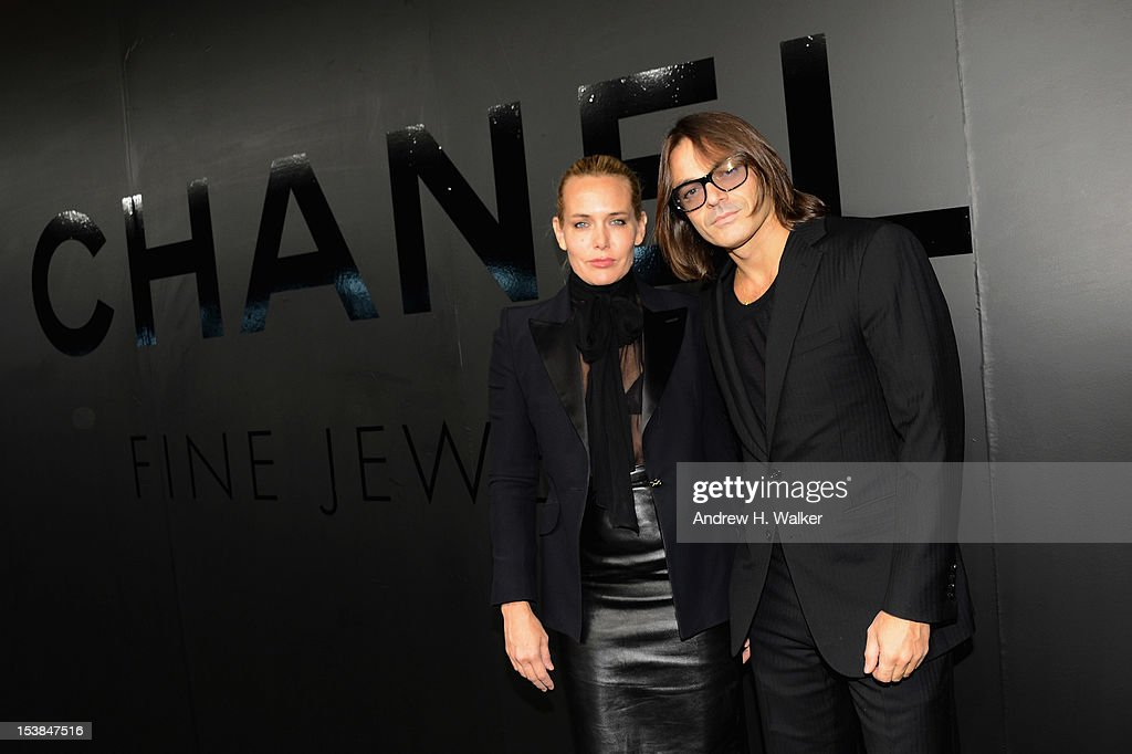 Mary Frey and Mario Sorrenti attends the celebration of CHANEL FINE JEWELRY'S 80th anniversary of the 'Bijoux De Diamants' collection created by Gabrielle Chanel on October 9, 2012 in New York City.