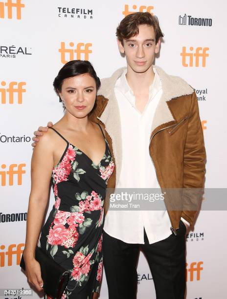 Mary Galloway and Theodore Pellerin arrive at the TIFF Soiree held during the 2017 Toronto International Film Festival at TIFF Bell Lightbox on...