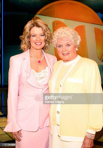 Mary Hart and her mother Dorothy Harum team up on the set at Paramount Studios in Hollywood in honor of Mother's Day Dorothy Harum will be a guest...