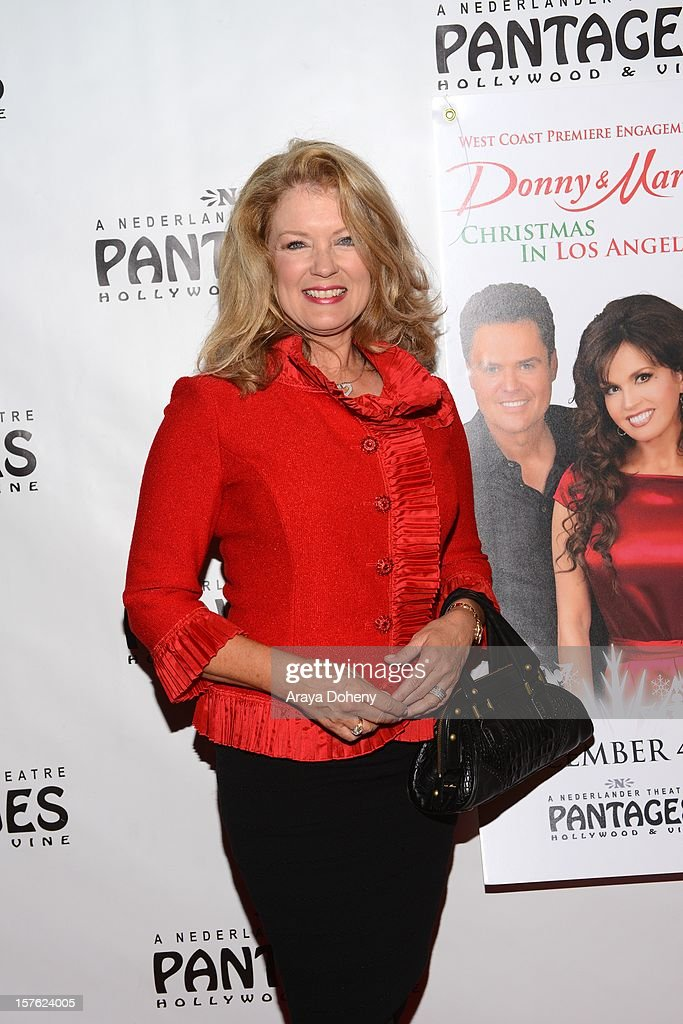 Mary Hart arrives at the 'Donny & Marie Christmas In Los Angeles' - Opening Night Performance at the Pantages Theatre on December 4, 2012 in Hollywood, California.