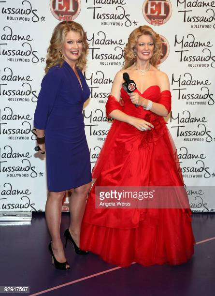 Mary Hart attends the unveiling of her wax figure at Madame Tussauds on November 9 2009 in Hollywood California