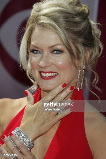 Mary Hart during The 57th Annual Emmy Awards Arrivals at Shrine Auditorium in Los Angeles California United States
