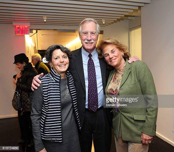 Mary Herman Senator Angus King and Liz Robbins visit GLG on March 4 2016 in New York City Photo by Donald Bowers/Getty Images for GLG