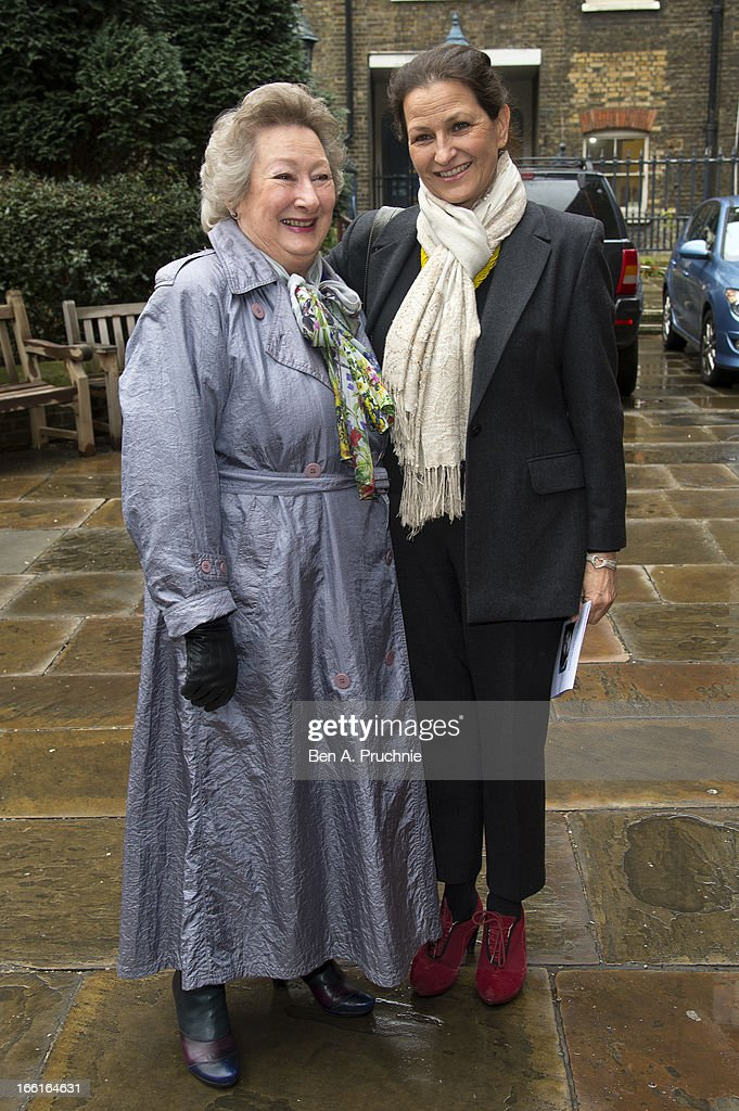 Mary Holness and Ros Holness attend a memorial for Dinah Sheridan, an actress who starred in 'The Railway Children' at St Paul's Church on April 9, 2013 in London, England.