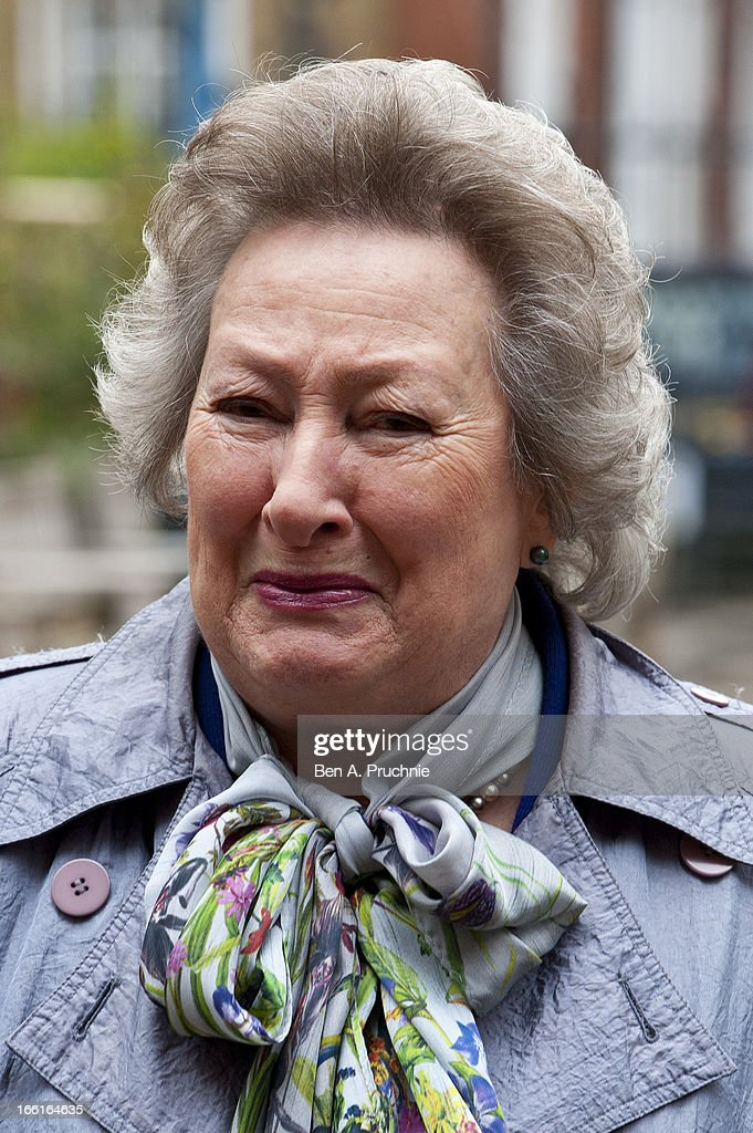 Mary Holness attends a memorial for Dinah Sheridan, an actress who starred in 'The Railway Children' at St Paul's Church on April 9, 2013 in London, England.