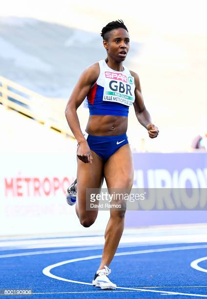 Mary Iheke of Great Britain competes in the Women's 400m heat 2 during day 1 of the European Athletics Team Championships at the Lille Metropole...