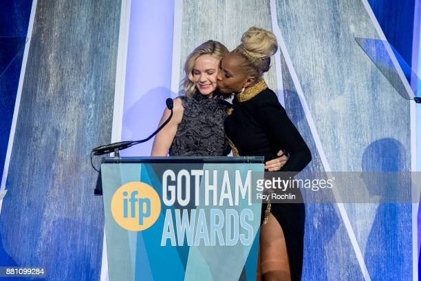 Mary J Blige accepts her award onstage during IFP's 27th Annual Gotham Independent Film Awards at Cipriani Wall Street on November 27 2017 in New...
