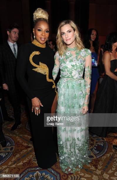 Mary J Blige and Allison Williams attend The 2017 IFP Gotham Independent Film Awards cosponsored by Landmark Vineyards at Cipriani Wall Street on...