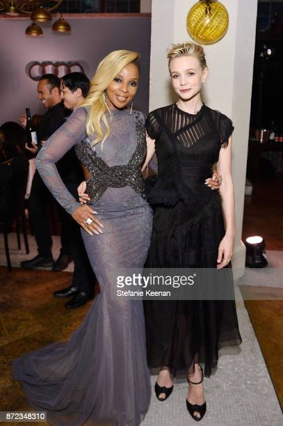 Mary J Blige and Carey Mulligan attend Audi Hosts Opening Night Dinner For AFI Netflix 'Mudbound' at Hollywood Roosevelt Hotel on November 9 2017 in...