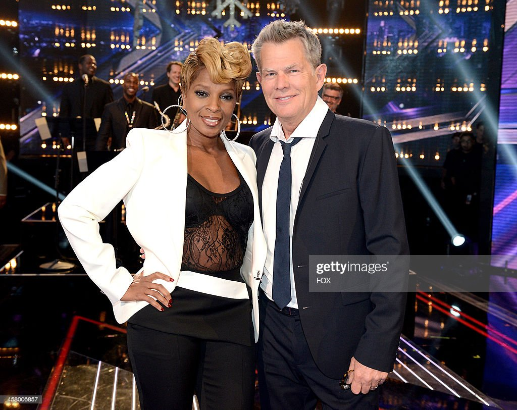Mary J. Blige (L) and David Foster attend FOX's 'The X Factor' Season 3 Live Finale on December 19, 2013 in Hollywood, California.