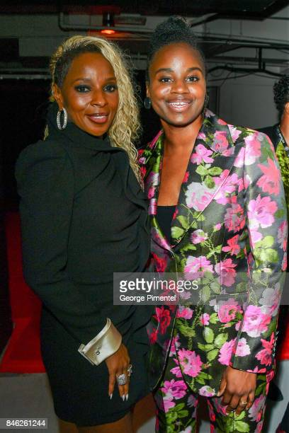 Mary J Blige and Dee Rees attend the 'Mudbound' premiere during the 2017 Toronto International Film Festival at Roy Thomson Hall on September 12 2017...