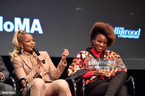 Mary J Blige and Dee Rees speak onstage during the Hammer Museum presents The Contenders 2017 'Mudbound' at Hammer Museum on December 4 2017 in Los...