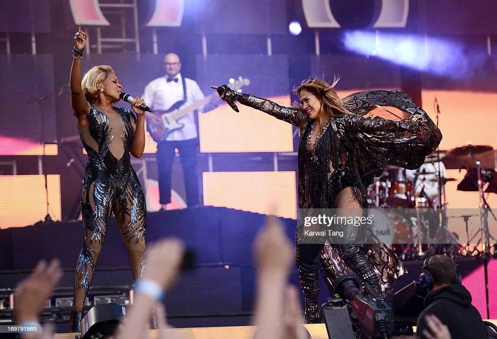 Mary J Blige and <a gi-track='captionPersonalityLinkClicked' href=/galleries/search?phrase=Jennifer+Lopez&family=editorial&specificpeople=201784 ng-click='$event.stopPropagation()'>Jennifer Lopez</a> perform on stage at the 'Chime For Change: The Sound Of Change Live' Concert at Twickenham Stadium on June 1, 2013 in London, England. Chime For Change is a global campaign for girls' and women's empowerment founded by Gucci with a founding committee comprised of Gucci Creative Director Frida Giannini, Salma Hayek Pinault and Beyonce Knowles-Carter.