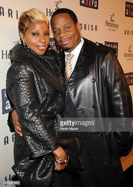 Mary J Blige and Kendu Isaacs attends Keep A Child Alive's 6th Annual Black Ball hosted by Alicia Keys and Padma Lakshmi at Hammerstein Ballroom on...