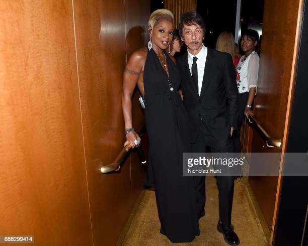 Mary J Blige and Pierpaolo Piccioli attend the Valentino Resort 2018 Runway Show After Party at the Boom Boom Room on May 23 2017 in New York City