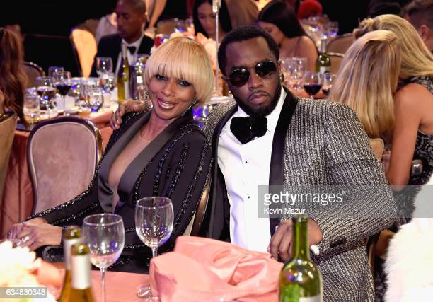 Mary J Blige and Sean Combs attend PreGRAMMY Gala and Salute to Industry Icons Honoring Debra Lee at The Beverly Hilton on February 11 2017 in Los...