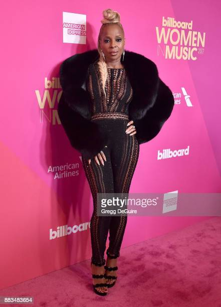 Mary J Blige arrives at the Billboard Women In Music 2017 at The Ray Dolby Ballroom at Hollywood Highland Center on November 30 2017 in Hollywood...